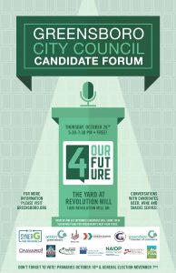 4 Our Future, A Greensboro City Council Candidate Forum @ The Yard at Revolution Mill