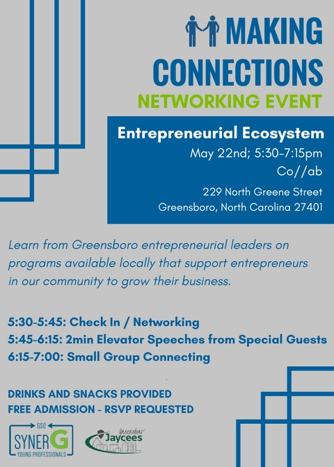 Entrepreneurial Ecosystem Making Connections