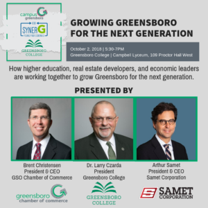 Panel Discussion: Growing Greensboro for the Next Generation @ Greensboro College - Campbell Lyceum, 109 Proctor Hall West | Greensboro | North Carolina | United States