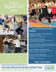 synerG Wellness Series: Session 2 TITLE Boxing Club @ TITLE Boxing Club | Greensboro | North Carolina | United States