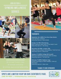 synerG Wellness Series: Session 2 TITLE Boxing Club @ TITLE Boxing Club | Greensboro | North Carolina | United States